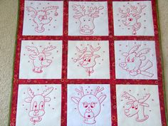 Reindeer Games - free blocks - stitchery or applique Attic Window Quilts, Decoration For Ganpati, Stay Kind, Reindeer Games, Close Today, Christmas Templates, How To Make Pillows, Free Games, Applique