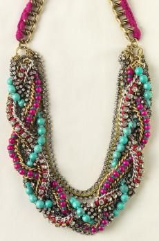 I want a necklace braided like this, but with pearls