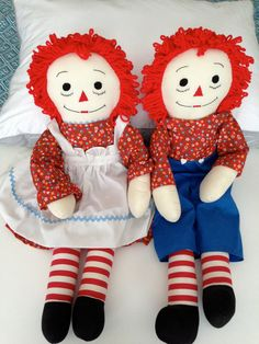 Raggedy Ann and Andy Dolls. My mothers favorite pair I've bought her several over the years she enjoys them