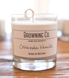 Coriander Vanilla Soy Wax Candle by BrowningCoHandmade on Etsy, $15.00
