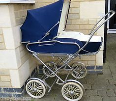 Vintage-TAN-SAD-ALLWIN-Pram-Pushchair-Convertible-pram-to-pushchair