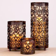 I love these candle holders!  with mint colored candles for my bedroom!!! :)