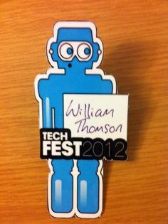 Funny badge for Tech Fest 2012