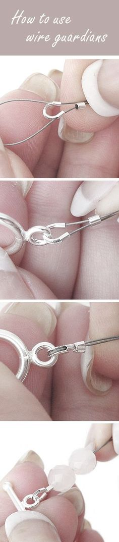How to use wire guardians or wire protectors | tutorial | www.bykaro.nl for your jewelry making supplies