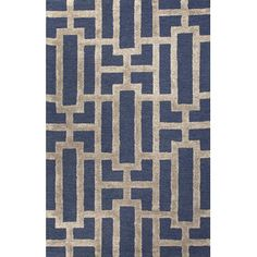 <strong>Jaipur Rugs</strong> City Deep Navy / Beige Geometric Area Rug
