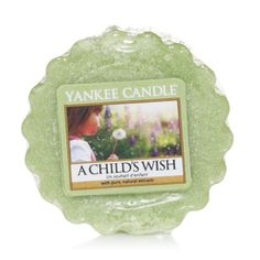 A Childs Wish Yankee Candle Company Tarts® Wax Melts - A warm breeze of soft flowers and fresh green fields captures the sweet innocence of childhood days playing in the backyard.