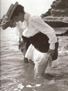 taking a bath in the sea water, 1902