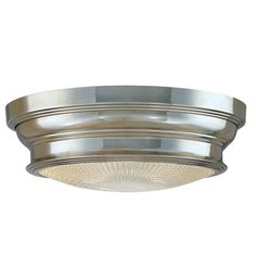 Hudson Valley Lighting | WOODSTOCK - 7513-PN.  Recommended at low ceilings where flush mount is indicated.