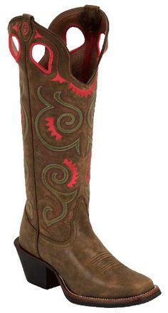 481be297c12 Womens Tony Lama 3R Tumbleweed Rebel Square Toe Cowboy Boots Cowboy Boots  Women