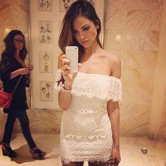 eiza gonzalez lacy white dress