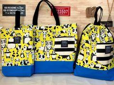 入学入園3点セット♪(ポップパンダ) 2x Clutch Bag, Diaper Bag, Sewing, Kids, Accessories, Craft, Tela, Suits, Young Children