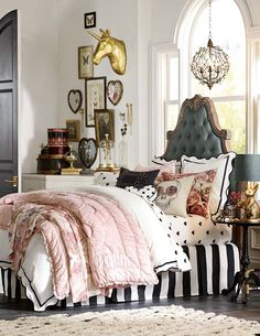 Make over your bedroom with vintage American style from fashion designers Emily Meritt and Current Elliott.