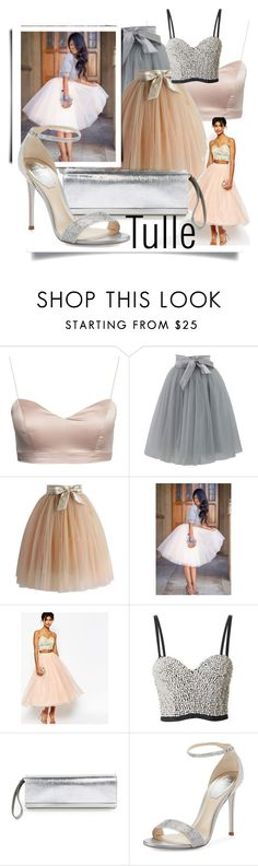 """""""Totally Tutu"""" by queenofsienna ❤ liked on Polyvore featuring Chicwish, ASOS, Topshop, Fendi, René Caovilla, tutu and tulle"""
