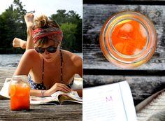 Drink your sunscreen! Goji Ginger Lemonade