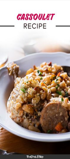 The ultimate French comfort food Pork Recipes For Dinner, Roast Recipes, Soup Recipes, Game Recipes, Weeknight Meals, Easy Meals, Salt Pork, Bean Stew, Best Food Ever