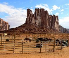 A horse corral in Monument Valley Navajo Tribal Park is just one of the sites you'll see on a drive through Monument Valley in Arizona and Utah. It's definitely worth adding to your bucket list. If you like the Old West, this is your travel destination.
