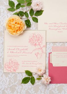 Garden Wedding Inspiration from Amber Housley + Cyn Kain Photography - Style Me Pretty Invitation Floral, Invitation Design, Stationery Design, Invitation Suite, Wedding Cards, Our Wedding, Dream Wedding, Casual Wedding, Floral Wedding