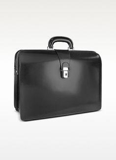 Pratesi Men's Leather Doctor Bag Briefcase w/Interior Lighting