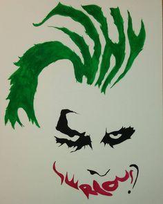 Why so serious? - Batman Clothing - Ideas of Batman Clothing - Why so serious? Batman Wall Art, Batman Artwork, Joker Drawings, Batman Drawing, Why So Serious Tattoo, Joker Symbol, Joker Stencil, Joker Art, Joker Batman