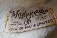 """Vintage """"Madawaska"""" blanket label by Kenwood Mills Limited. Via FabriqueFantastique on Blogspot."""