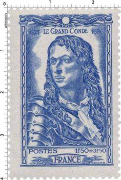 Timbre 1944 : LE GRAND CONDÉ 1621-1686   WikiTimbres
