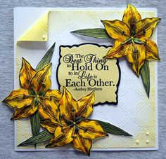 Sheena Victorian Floral Lily Stamp Set. Sheena Victorian Floral Lily Die Set. @CraftersCompUS