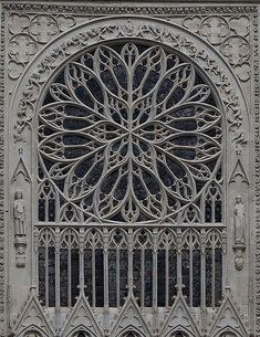 Amiens Cathedral rose window #StainedGlassCathedral