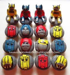 blake likes these Cupcake Birthday Cake, 5th Birthday, Cupcake Cakes, Birthday Parties, Birthday Ideas, Transformers Cupcakes, Harry Potter More, Transformer Birthday, Rescue Bots
