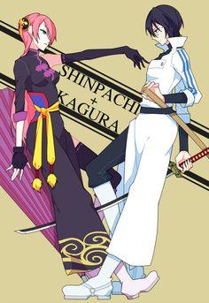 Tags: Fanart, Gin Tama, Pixiv, Shimura Shinpachi, Kagura (Gin Tama), Fanart From Pixiv, Pixiv Id 2332457