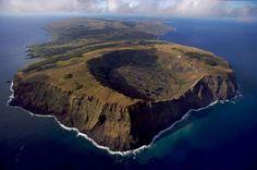 Volcán de Rano Raraku Parque Nacional de Rapa Nui, Isla de Pascua, Chile