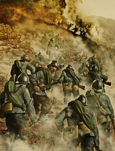 Los italianos atacan Monte Sabotino, Gorizia, el sector del río Isonzo, Italia, 6 de agosto de 1916. Más en www.elgrancapitan.org/foro