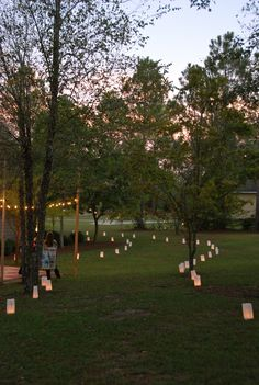 Outdoor Movie Party-balloons with glow sticks may be more fun than bags