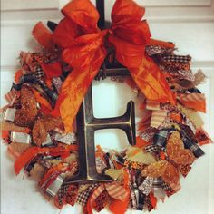 Harvest Initial Thanksgiving Wreath