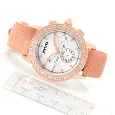 My next timepiece! Invicta Women's Angel Dust Morganite/diamond/stingray strap....love it!!