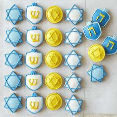 Mini Iced Hanukkah Cookies (Williams Sonoma).