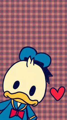 Wallpaper Cellphone, Wallpaper Iphone Disney, Tsum Tsum Wallpaper, Mickey Mouse Wallpaper, Disney Duck, Cute Disney, Cute Backgrounds, Cute Wallpapers, Duck Wallpaper