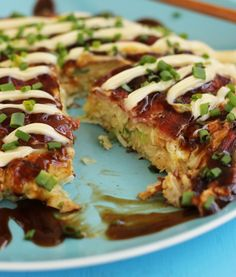 "Okonomiyaki means ""grill it as you like it."" It is a savory Japanese Pancake that is sure to be the rave in 2014!"
