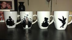DIY Disney Silhouette Mugs