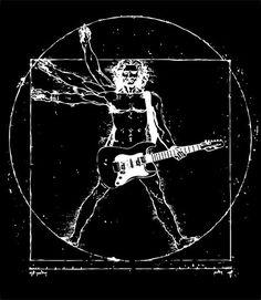 Da Vinci painting playing guitar #rockout