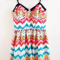 """Spotted while shopping on Poshmark: """"NWOT! Chevron dress""""! #poshmark #fashion #shopping #style #Dresses & Skirts"""