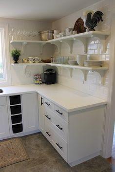 Open Shelves in Ikea Grimslov Kitchen
