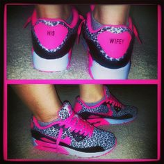 Cute Custom Pink Cheetah Nikes....but wouldn't put that on my sneakers