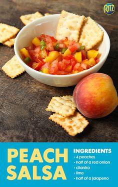 How To Make Peach Salsa | Ritz