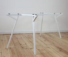 'Architect's Table / White Drawers' by Daniel Klapsing & Philipp Schöpfer for 45 Kilo