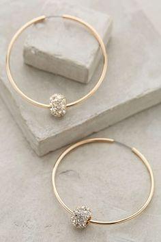 Anthropologie Jeweled Orbit Hoops #anthrofave #anthropologie