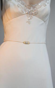 Gold Bridal Belt Sash Rhinestone Crystal & Pearls by mylittlebride, $49.00