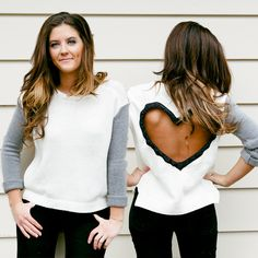 Heart+Cut+out+Sweater+Made+to+order+Upcycled+por+BglorifiedBoutique,+$78,00