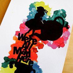 Reposting @house_of_tessa: Were all mad here ~ Alice in wonderland ✨ • • • • • #watercolour #painting #myart #colour #inspiration #aquarelle #paintings #winstorandnewton #artist  #instaaart #ownwork #creative #sketchbook #masterpiece #H.O.T #artsy #ecoline
