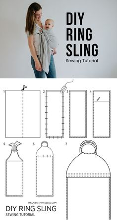 DIY Ring Sling Sewing Tutorial by The Doing Things Blog. Fabric and sling ring recommenations + a step by step tutorial on how to make your own.