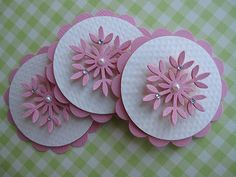Pink Snowflake Embellishments by vsroses.com, via Flickr